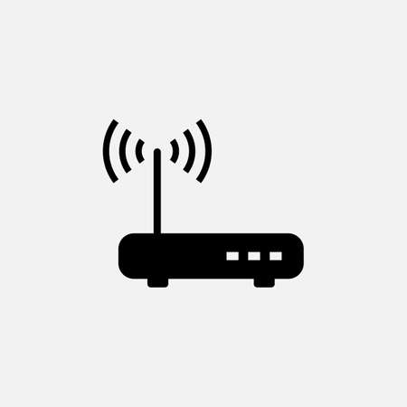 Internet router. vector Simple modern icon design illustration.  イラスト・ベクター素材