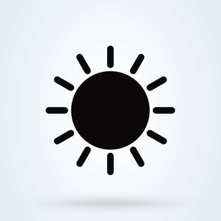 Sun icon. summer symbol on white background. Vector illustration