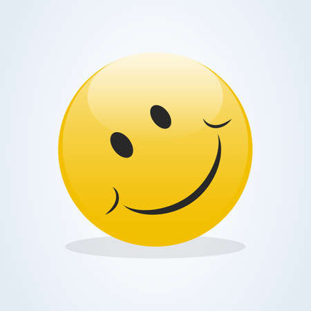 Emoticon showing a true sense of happiness vector. Smile icon template design