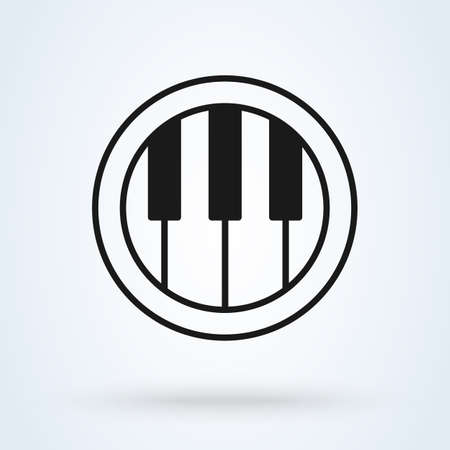 Piano tiles design element. Line icon illustration. Vector Illustratie