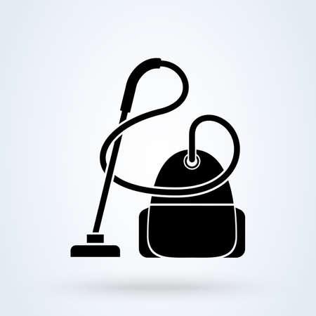 Vacuum cleaner. vector Simple modern icon design illustration.
