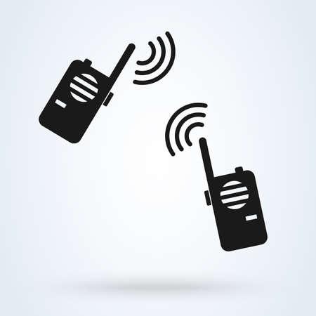 Walkie talkie radio. vector Simple modern icon design illustration.