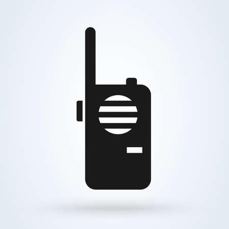 Walkie talkie icon. vector Simple modern design illustration.