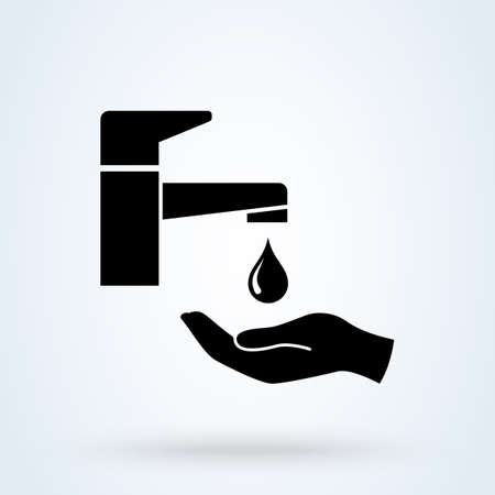Washing hand icon. vector Simple modern design illustration. Vectores
