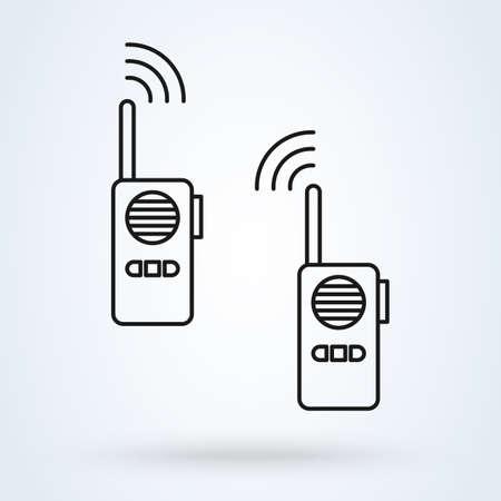 Walkie talkie radio line. vector Simple modern icon design illustration. Ilustrace