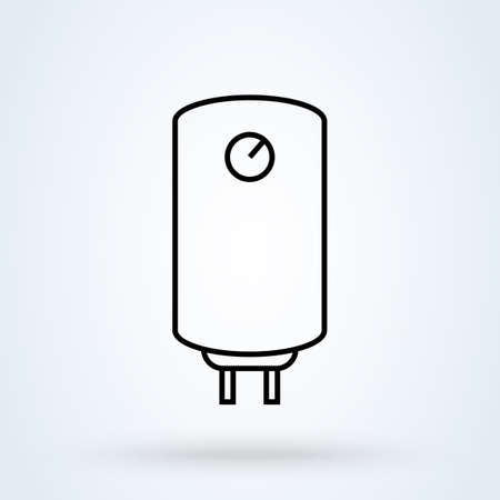 Boiler water heater line. vector Simple modern icon design illustration.