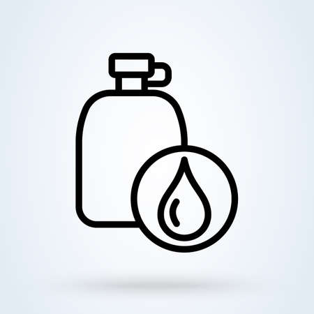 Water canteen line. vector Simple modern icon design illustration.