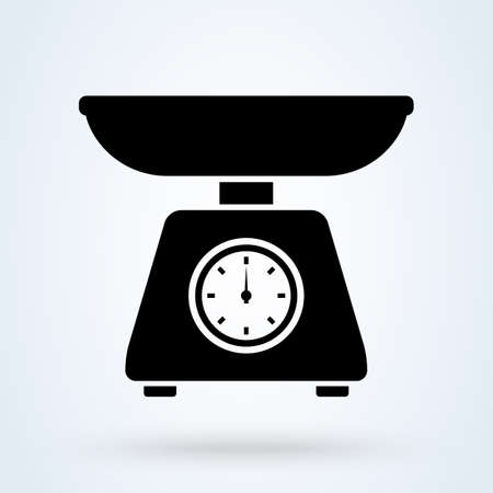 Domestic weigh scales. vector Simple modern icon design illustration.