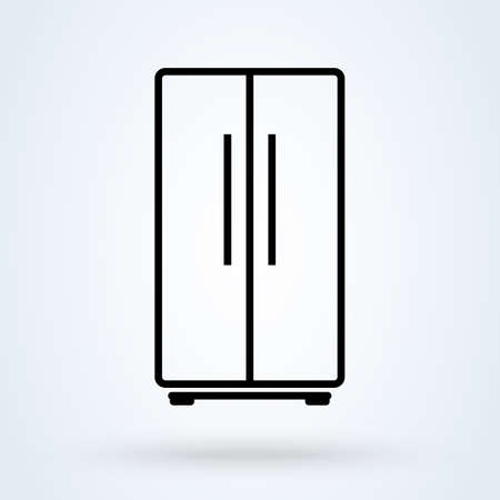 Refrigeration. vector Simple modern icon design illustration.