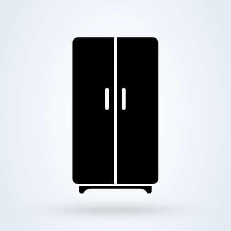 Refrigeration. vector Simple modern icon design illustration.