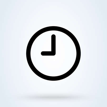 Clock time. vector Simple modern icon design illustration.