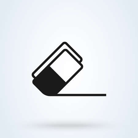 Eraser Rubber. vector Simple modern icon design illustration.