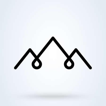 Mountains logo icon. vector Simple modern design illustration. Illustration