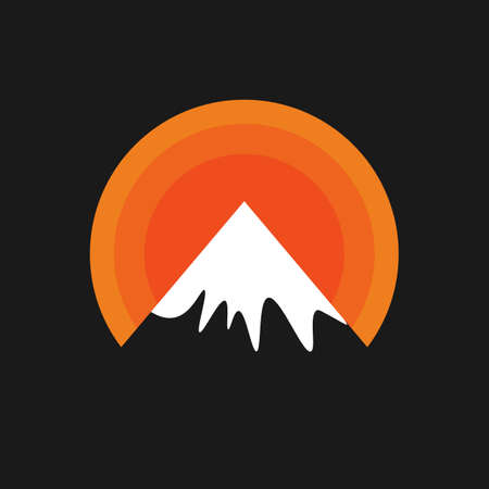Mountains sign. vector Simple modern icon design illustration. Illustration