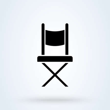 chair camp. vector Simple modern icon design illustration.