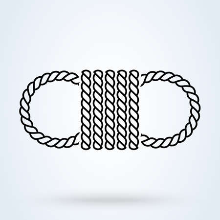 Rope Tied icon. vector Simple modern design illustration.