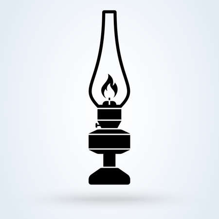 kerosene lamp. vector Simple modern icon design illustration.
