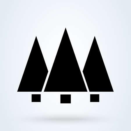 Forest pine. vector Simple modern icon design illustration.