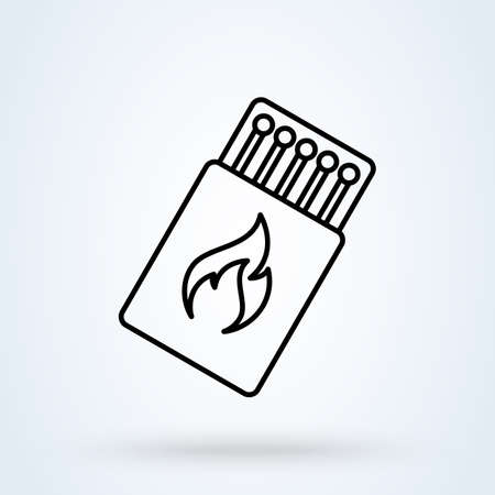 match box. vector Simple modern icon design illustration. Ilustrace