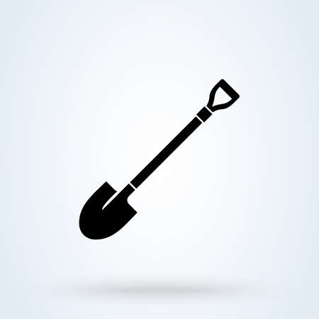 Shovel Symbol. vector Simple modern icon design illustration.