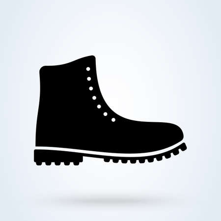 Hiking boots. vector Simple modern icon design illustration.