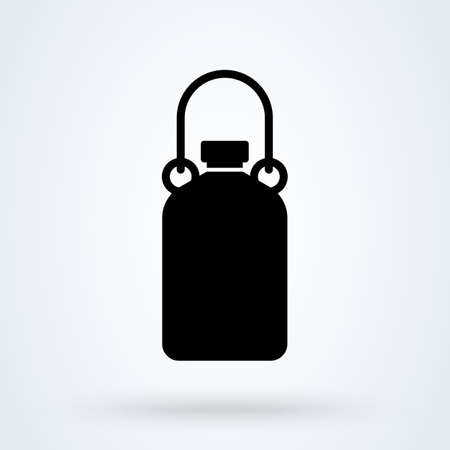 Flask camp. vector Simple modern icon design illustration.