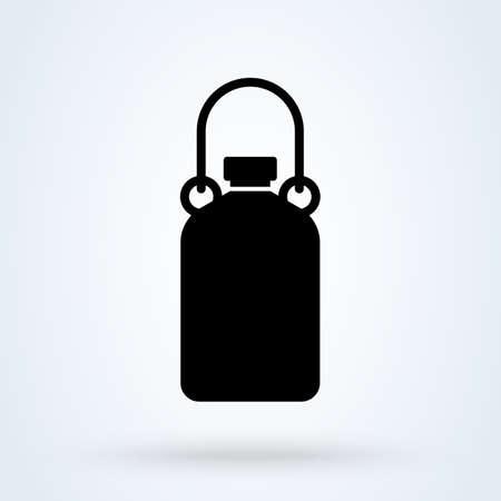 Flask camp. vector Simple modern icon design illustration.