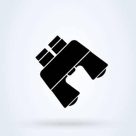 Binoculars sign. vector Simple modern icon design illustration.