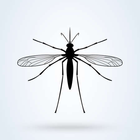mosquito. vector Simple modern icon design illustration.