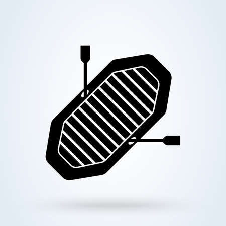Inflatable Boat. vector Simple modern icon design illustration.