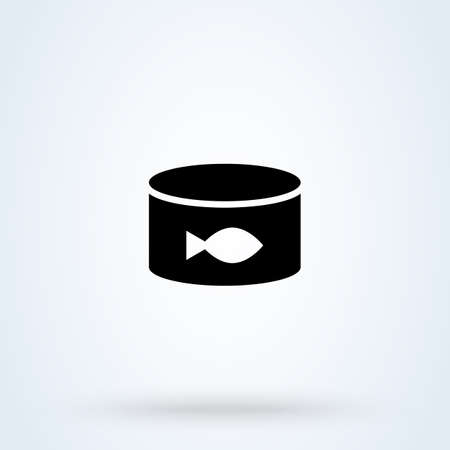canned fish. vector Simple modern icon design illustration. Иллюстрация