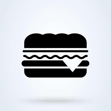 Sandwich. vector Simple modern icon design illustration.