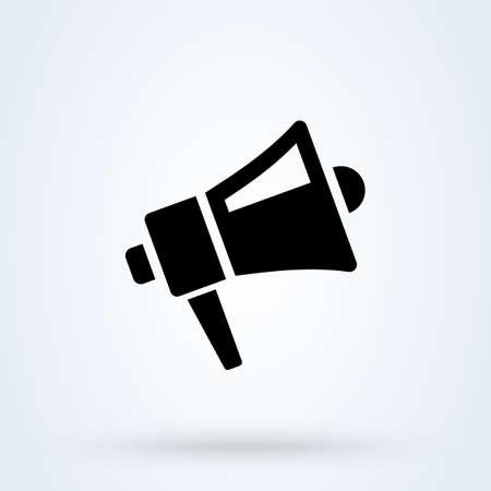Bullhorn or Megaphone icon or logo. Loudspeaker and Promotion concept. Speaker and sales promotions vector illustration.