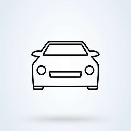 front car sign line icon or logo. Universal car concept. vector linear illustration.