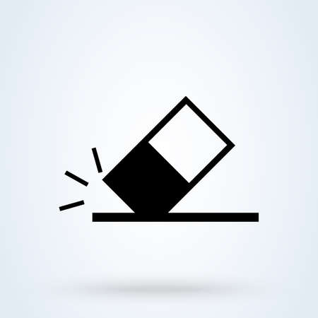 Eraser Icon Vector illustration - Sign or Symbol