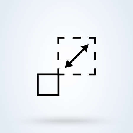 Scalability or scalable system line art vector icon for apps and websites 向量圖像