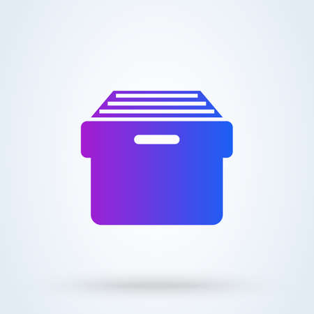 Archive Storage sign icon or logo. File Cabinet concept. Document Archive Storage vector illustration.