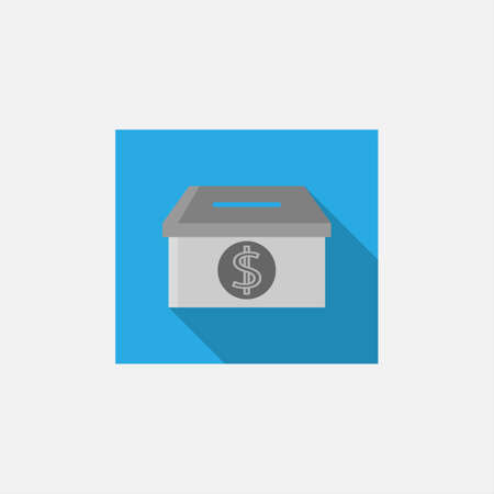 Donation box icon. Flat illustration of donation box vector icon for web design.Vector Simple modern icon design illustration. 일러스트