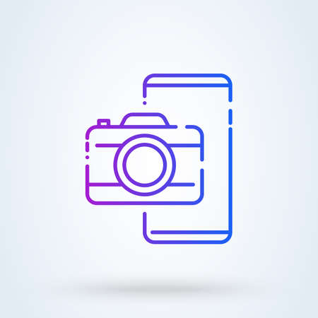 Camera icon, flat photo vector isolated. Modern simple photo sign. Instant fashion symbol for website design, mobile app. Logo illustration. Vector Simple modern icon design illustration.