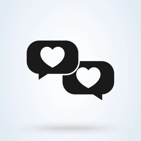 Love message sign icon speech bubble concept. good feedback app vector illustration. 일러스트