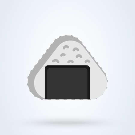 Japanese onigiri sign icon onigiri japanese food concept. Japanese cuisine rice dishes app vector illustration. Vektorové ilustrace