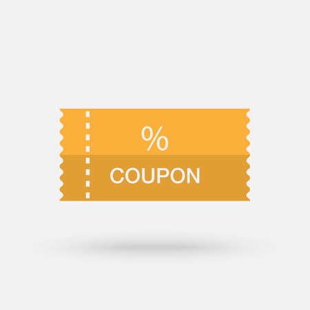Coupon flaticon vivid color backgrounds. Discount Coupon Icon. Vector simple modern icon design illustration.