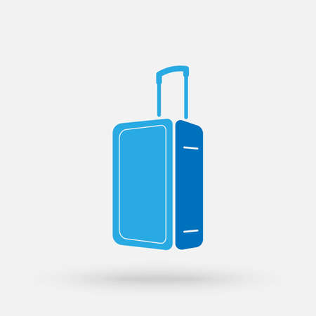 Travel bag icon. Tourism vacation isolated sign. Traveling icon on white background. Vector simple modern icon design illustration.