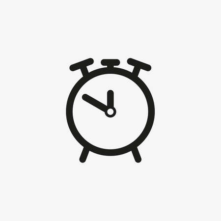 Line vector Alarm clock icon isolated on white background.