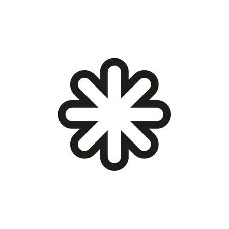 Asterisk sign icon for website and mobile UI design.