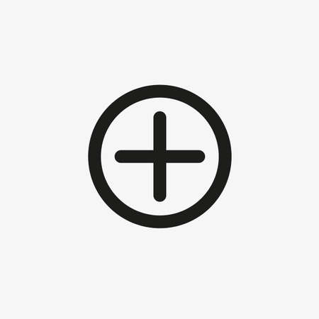 Add button Line icon for website and apps UI design. Plus sign for medical, healthcare, app development concepts.