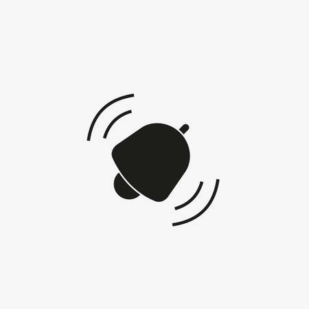 Ringing bell icon. Incoming notifications, alarm button for UI design.