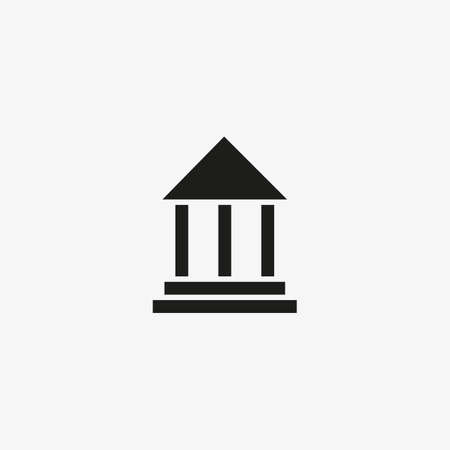 bank icon. financial building icon. Courthouse symbol.