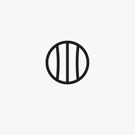 Baseball icon in line design style. Sports and recreation concept. 일러스트