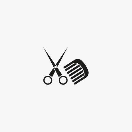 Hairdresser, beauty salon icon. Barber template symbol.